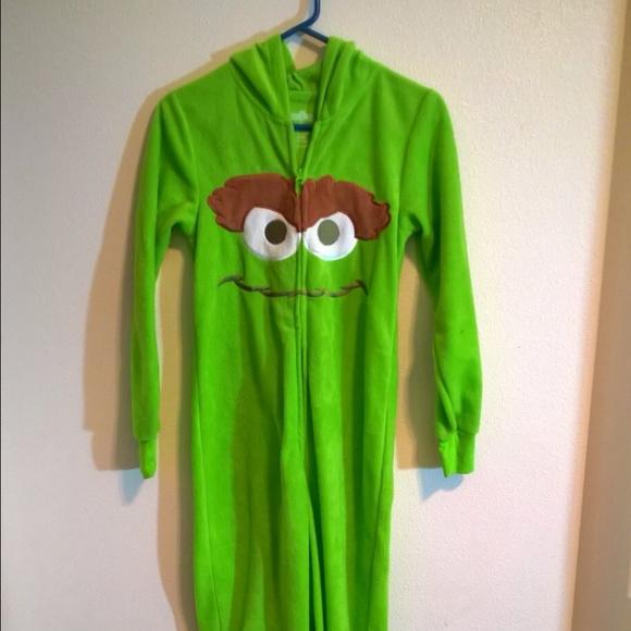 Oscar The Grouch Sesame Street Footie Pajamas