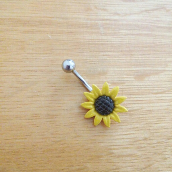 Jewelry Sunflower Belly Ring Belly Button Ring Poshmark