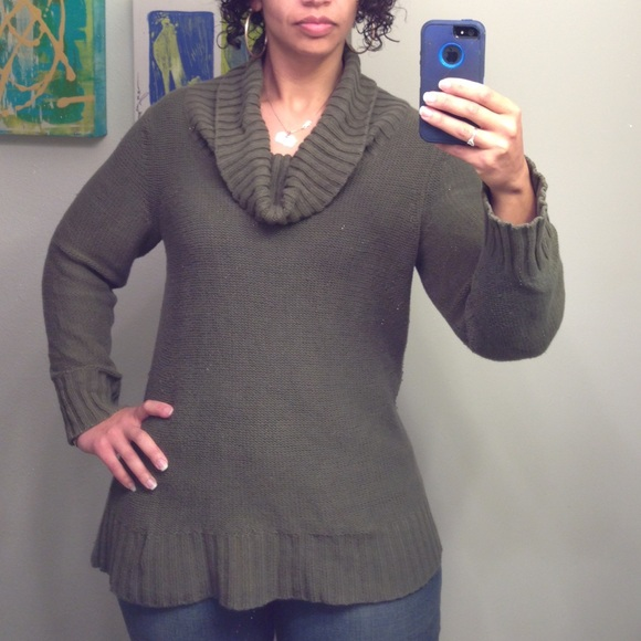 86% off Old Navy Sweaters - Olive Green Cowl Neck Sweater from ...