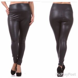 05f1d6f90 Pants - 2X 🆕🎀 Black High Waist Faux Leather Leggings