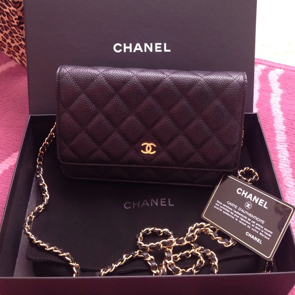 f3d078d81cdd CHANEL Handbags - Authentic Chanel black caviar WOC with ghw