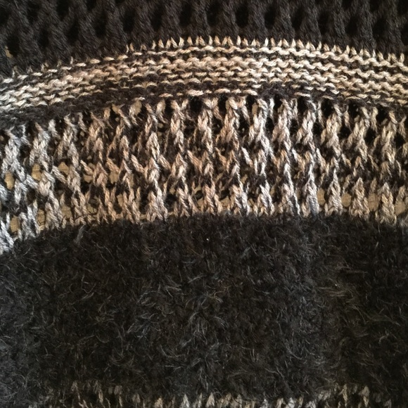 Sold Grey Black Striped Sweater Xl New Xl From Closed S