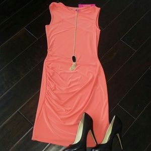 NWT Catherine Malandrino coral dress