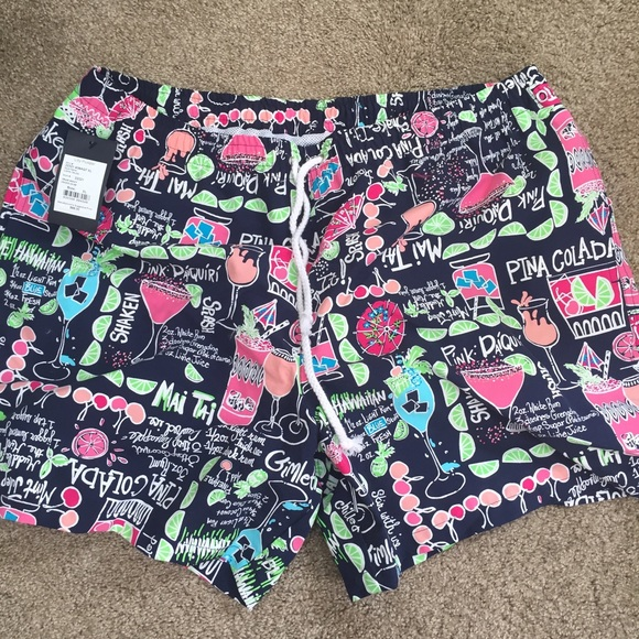 df5a246eac Lilly Pulitzer Other | Soldmens Drinks On Me Swim Trunks | Poshmark