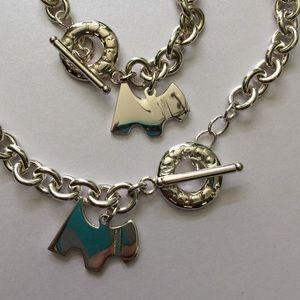 face33879 Jewelry | Scottie Dog Silver Toggle Necklace Bracelet Set | Poshmark