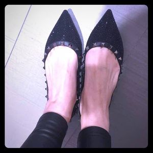 Valentino Shoes - Authentic Valentino stud flat with Crystal