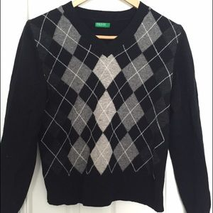 United Colors Of Benetton  Vintage Mohair and Wool Sweater from Nala