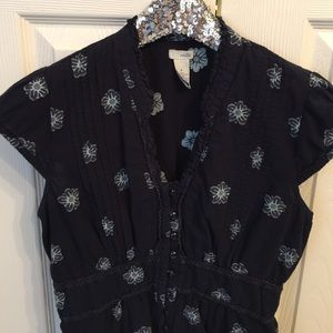 Anthropologie Beautiful Daisy Blouse