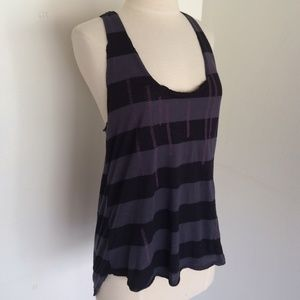 Silence + Noise stripe embroidered tank top L