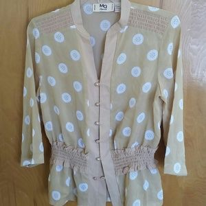 Tops - Vintage sheer buttoned top blouse