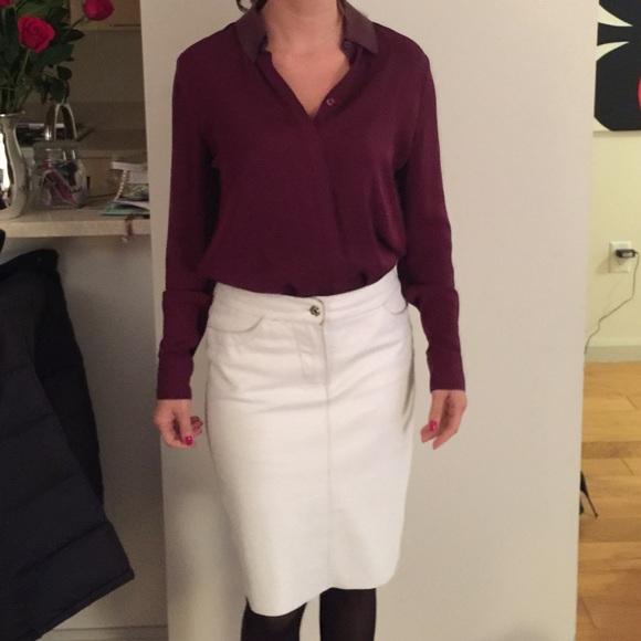 kookai white leather skirt from s closet on poshmark
