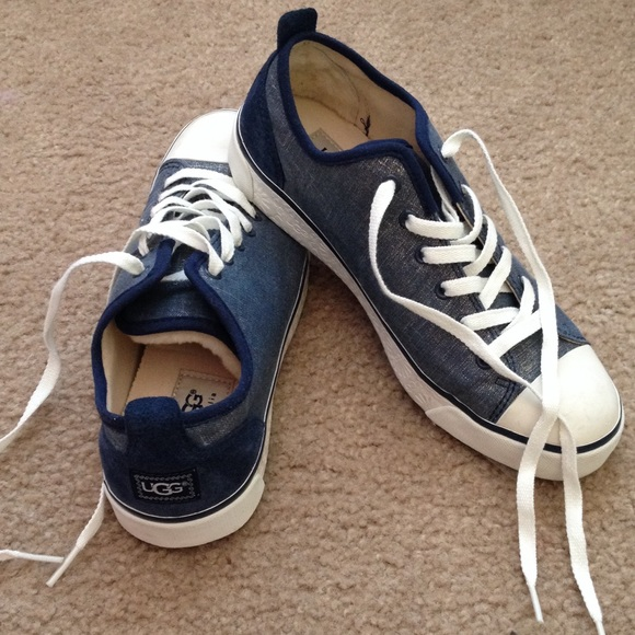 UGG BLUE & white tennis shoes SIZE 7 BRAND NEW