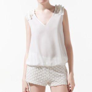 Zara Blouse with Shoulder Appliqués