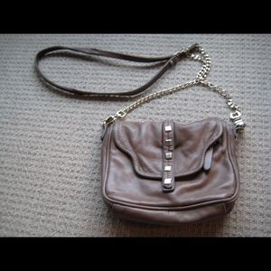 Junior Drake Grey leather Gold Chain Crossbody