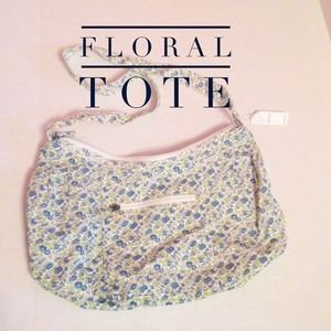 Old Navy Handbags - Floral Print Tote