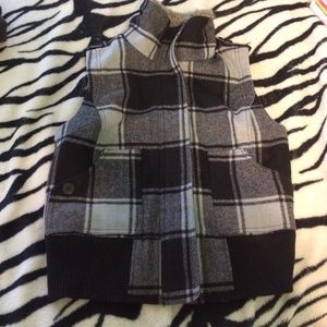 anchor blue Jackets & Blazers - Plaid jacket vest