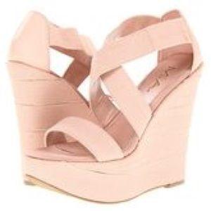 MIA Shoes - Mia Shoes Papparazzi Blush Wedge