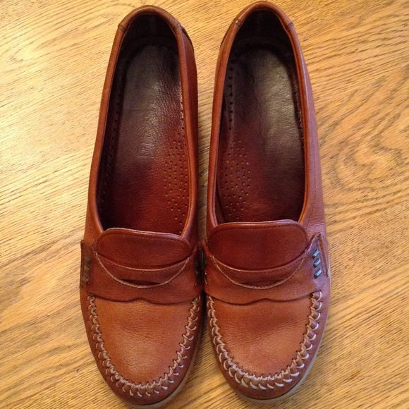 299e8e9d4ed01e Dexter Shoes - Leather wedge penny loafer