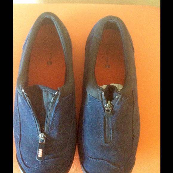 lands end lands end blue suede walking shoes from