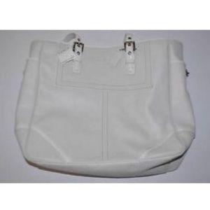 Coach Handbags - Authentic Coach WHITE TOTE BOOK SHOULDER BAG