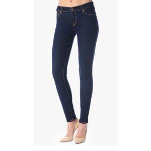 7FAM dark skinny jeans