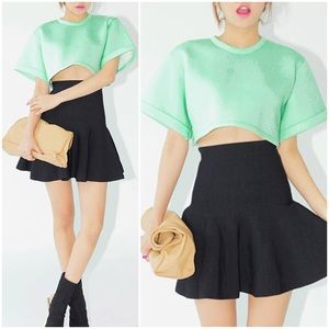 Mint neoprene crop top