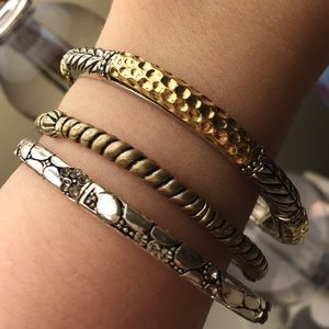 Stretchy Mixed Metal Bracelets