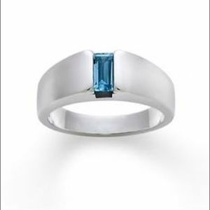 James Avery Jewelry - James Avery Silver & Blue Topaz Ring