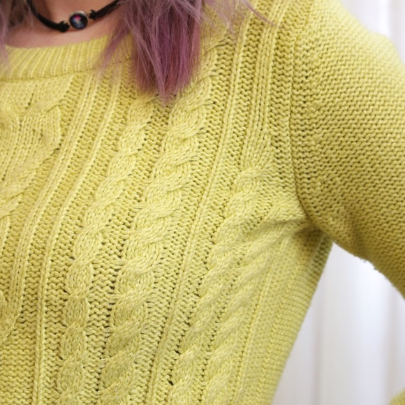 Old Navy Sweaters - 💙SALE❤️ Neon Citrus Cable Knit Sweater