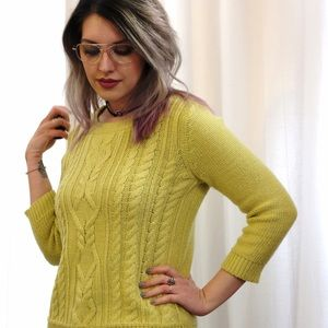💙SALE❤️ Neon Citrus Cable Knit Sweater