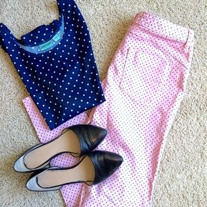 Vera Wang Pink with Blue Hearts Jeans