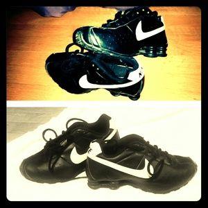 Nike Shox- Black & white leather