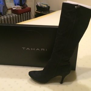 Tahari Black Suede Boot