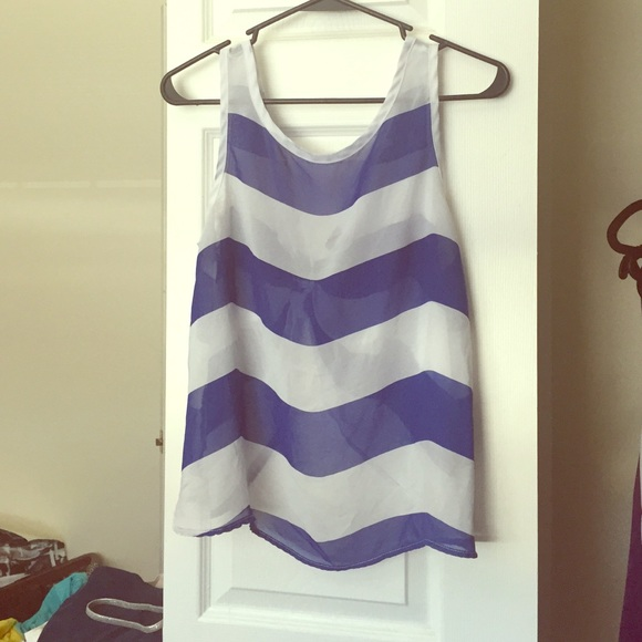 Rue21 Tops - Blue and white striped tank