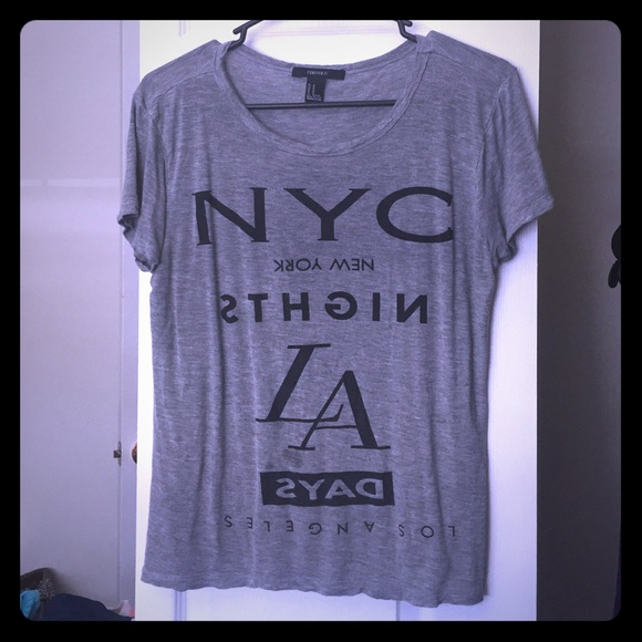 Forever 21 Tops - NYC/LA tee