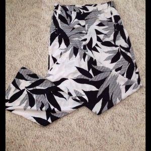 Pants - Black and White wide Leg Pants