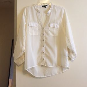 Off white chiffon shirt