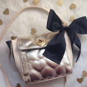 Betsey Johnson Gold Crossbody