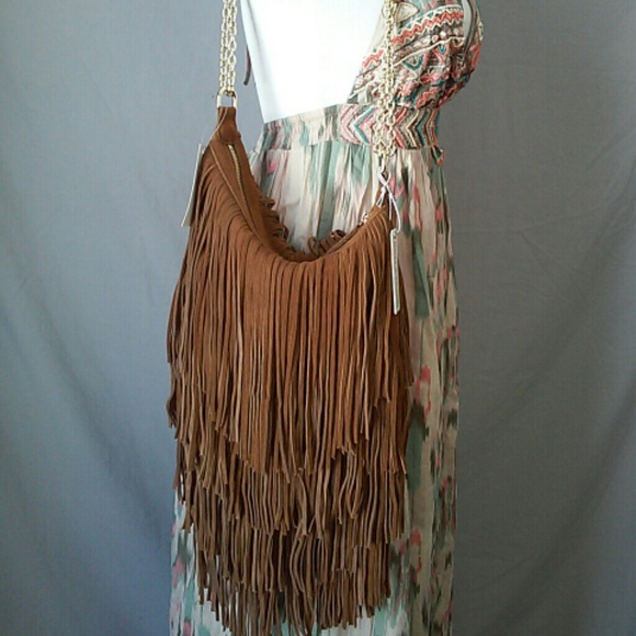 40% off Lost and Found Handbags - SOLD! NWT Suede leather fringe ...