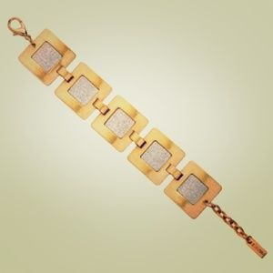 Mixed Metals Square Bracelet