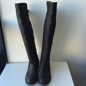 Chinese Laundry size 8.5 black over-the-knee boots