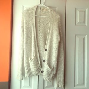 Cream knit Hollister cardigan