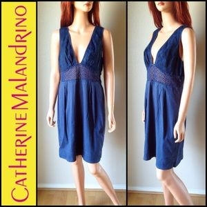 CATHERINE MALANDRINO Navy Blue Dress