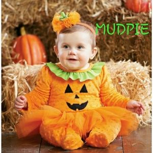 NWT MUDPIE TUTU AND HEADBAND  PUMPKIN HALLOWEEN