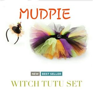 NWT MUDPIE TUTU AND WITCH HAT HALLOWEEN