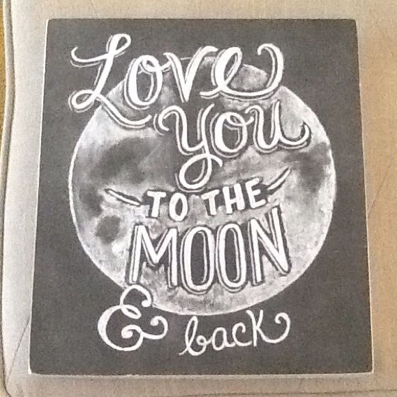 Wood Frame Other Love You To The Moon Back Poshmark