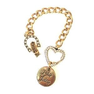 JUICY COUTURE Lady Luck Gold Chain Bracelet