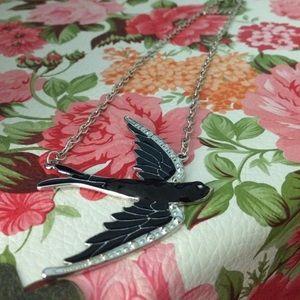 Shortstrand sparrow bird necklace.