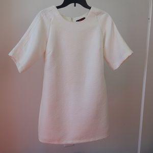Nasty Gal Dresses & Skirts - NastyGal White Embossed Tee Dress