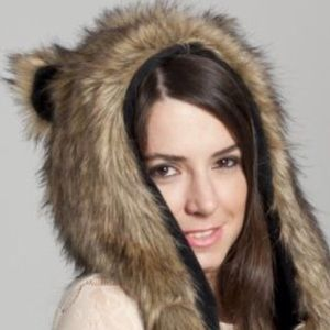 4ba1796c782 Animal Hat Accessories - Wild Grizzly Bear Faux Fur Animal Hat Hood w  Paws